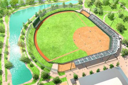 2009 みどりと森野運動公園野球場新築工事